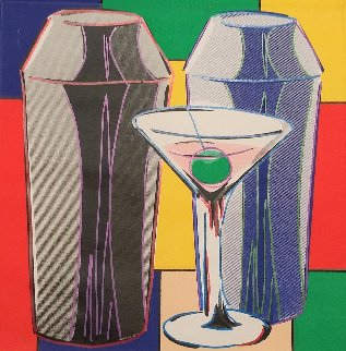 Martinis 2005 Embellished Limited Edition Print by Steve Kaufman