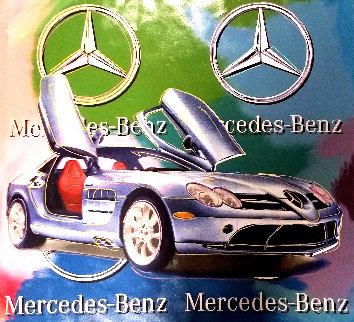 Mercedes Benz Sl Coupe - Multi Color 2005 Embellished Original Painting by Steve Kaufman