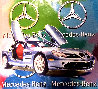 Mercedes Benz Sl Coupe - Multi Color 2005 Embellished Original Painting by Steve Kaufman - 0