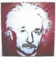 Einstein 44x35 Super Huge  Limited Edition Print by Steve Kaufman - 1