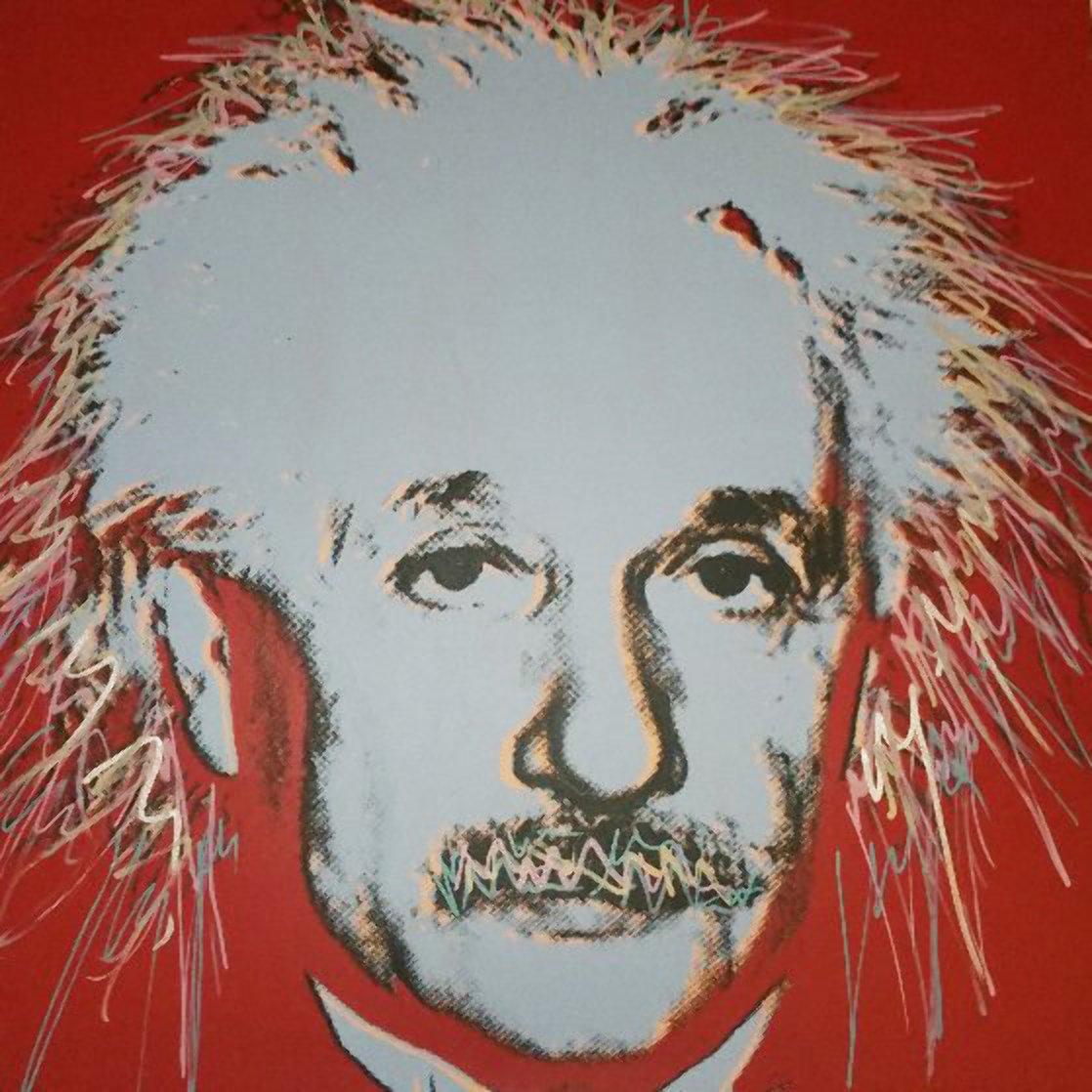 Einstein 44x35 Super Huge  Limited Edition Print by Steve Kaufman