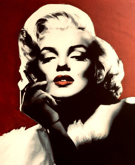Marilyn Monroe Smokin Hot 2005 48x42 Super Huge Original Painting - Steve Kaufman