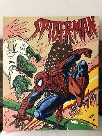 Spiderman 17x20 HS by Stan Lee Limited Edition Print by Steve Kaufman - 1