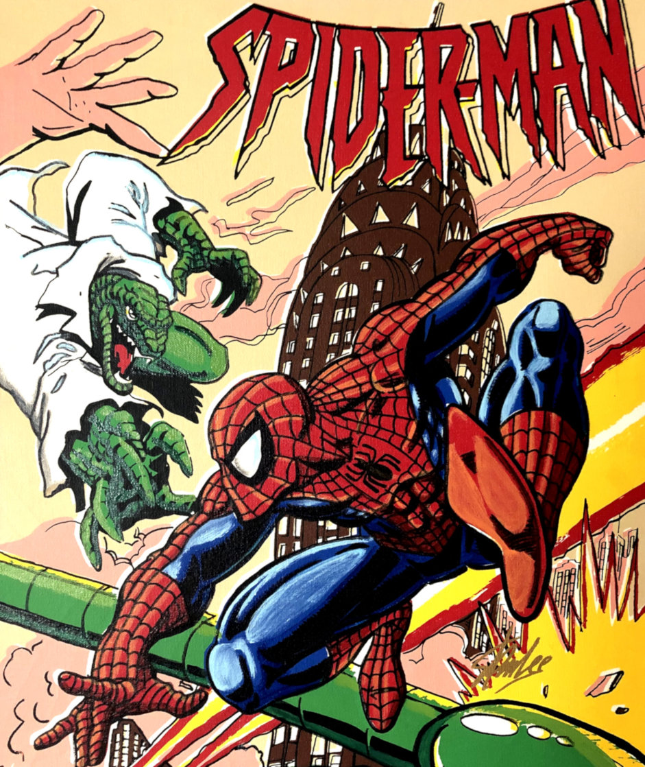 Spiderman 17x20 HS by Stan Lee Limited Edition Print by Steve Kaufman