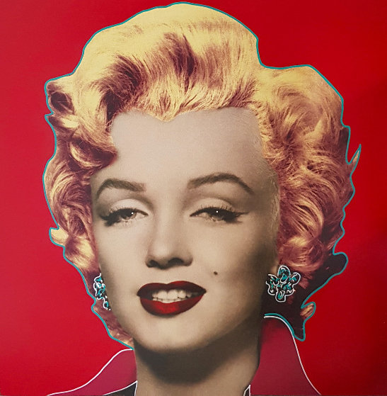 Set of 3 Marilyn: Icon 36x36 Embellished Limited Edition Print by Steve Kaufman