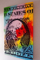 Buck Stops Here  1990 46x27 Huge Limited Edition Print by Steve Kaufman - 3
