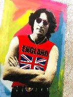 John Lennon England Unique  2001 48x30 Super Huge Original Painting by Steve Kaufman - 3
