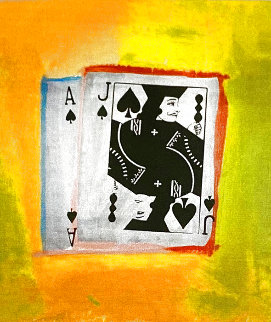 Royal Flush Silver PP Limited Edition Print - Steve Kaufman