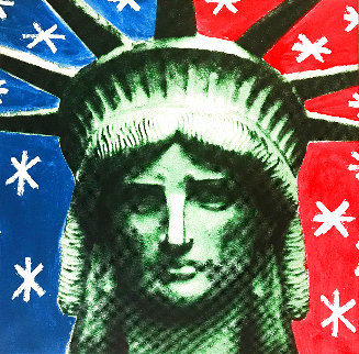 Lady Liberty Head 2004 Limited Edition Print - Steve Kaufman