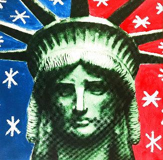 Lady Liberty Head 2004  Canvas Limited Edition Print - Steve Kaufman