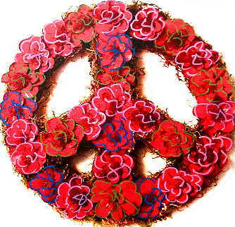 Peace Unique 2005 20x20 Limited Edition Print - Steve Kaufman