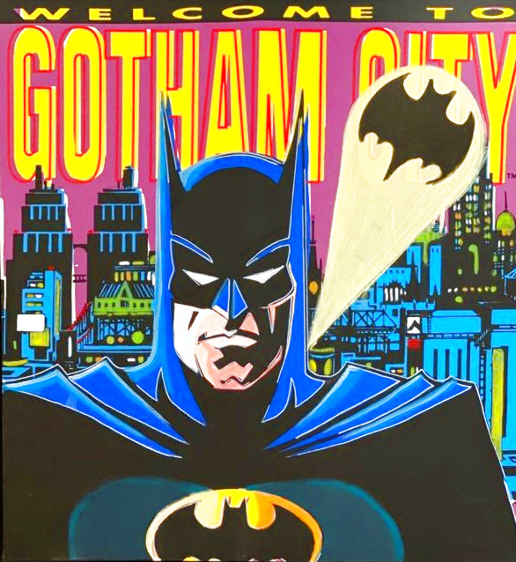 Batman: Welcome to Gotham City AP 1995 Limited Edition Print by Steve Kaufman