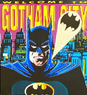 Batman: Welcome to Gotham City AP 1995 Limited Edition Print by Steve Kaufman - 0