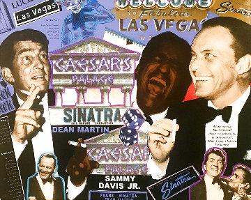 Frank Sinatra - Rat Pack Caesars Palace  1999 Limited Edition Print - Steve Kaufman