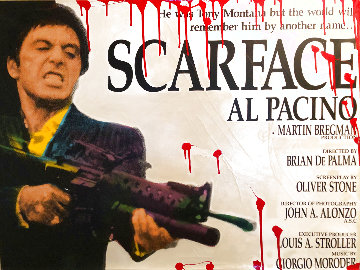 Scarface With Blood  1999 AP Embellished Limited Edition Print - Steve Kaufman