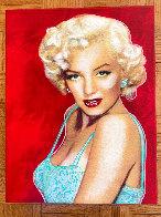 Marilyn Monroe Allure Unique  1997 20x15 Original Painting by Steve Kaufman - 1