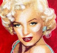 Marilyn Monroe Allure Unique  1997 20x15 Original Painting by Steve Kaufman - 2