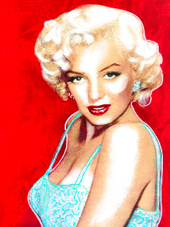 Marilyn Monroe Allure Unique  1997 20x15 Original Painting - Steve Kaufman