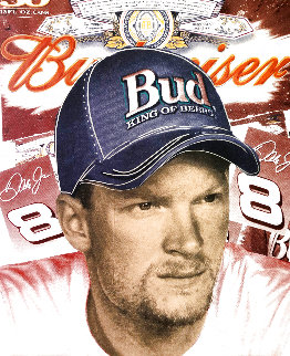 Dale Earnhardt Jr 2007 Embellished Limited Edition Print - Steve Kaufman