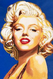 Marilyn Monroe Postage Stamp Unique 1996 45x31 Original Painting - Steve Kaufman
