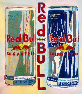 Red Bull Unique 2004 36x32  Original Painting - Steve Kaufman