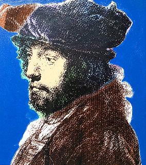 Rembrandt Unique 1996 25x22 Original Painting - Steve Kaufman
