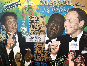 Rat Pack Caesars Palace Embellished  Limited Edition Print - Steve Kaufman
