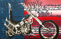 Freedom to Ride Limited Edition Print by Steve Kaufman - 0