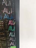 Ali Olympic the Greatest 1995 Embellished Canvas HS by Ali - Super Huge Limited Edition Print by Steve Kaufman - 5