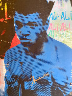 Ali Olympic the Greatest 1995 Embellished Canvas HS by Ali  Limited Edition Print by Steve Kaufman - 2