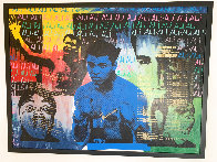 Ali Olympic the Greatest 1995 Embellished Canvas HS by Ali  Limited Edition Print by Steve Kaufman - 1
