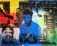 Ali Olympic the Greatest 1995 Embellished Canvas HS by Ali  Limited Edition Print by Steve Kaufman - 0