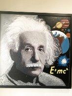 Albert Einstein E=MC2 Unique 48x48 Huge Original Painting by Steve Kaufman - 1