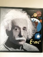 Albert Einstein E=MC2 Unique 48x48 Super Huge Original Painting by Steve Kaufman - 1