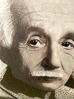 Albert Einstein E=MC2 Unique 48x48 Huge Original Painting by Steve Kaufman - 2