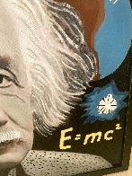Albert Einstein E=MC2 Unique 48x48 Huge Original Painting by Steve Kaufman - 3