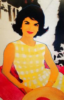 Jackie O (Yellow Dress) Unique 47x36 Super Huge Original Painting - Steve Kaufman
