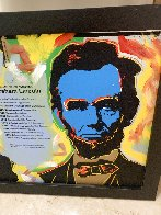 Abe Lincoln (3 Faces) Embellished Limited Edition Print by Steve Kaufman - 1