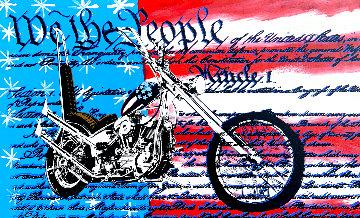 Freedom to Ride 1998 Unique 28x45 - Huge Original Painting - Steve Kaufman