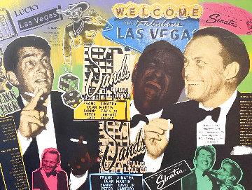 Rat Pack At the Sands Huge  Limited Edition Print - Steve Kaufman