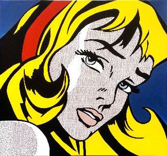 Crying Girl - Homage to Lichtenstein Original Painting - Steve Kaufman