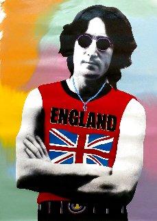 John Lennon London - T - Unique - 2001 48x32 Huge Original Painting - Steve Kaufman