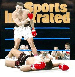 Muhammad Ali - Sports Illustrated Cover Unique 1995 48x40 HS Original Painting - Steve Kaufman
