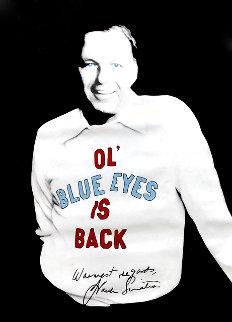 Sinatra - Ol Blue Eyes Unique 1995 50x36 Original Painting - Steve Kaufman