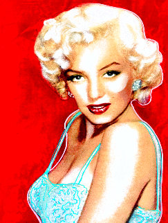 Marilyn Allure Unique 1998 Original Painting - Steve Kaufman