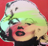 Marilyn Monroe State I Red Background 1995 Limited Edition Print by Steve Kaufman - 0