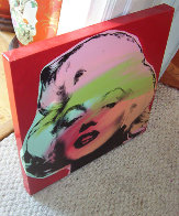Marilyn Monroe State I Red Background 1995 Limited Edition Print by Steve Kaufman - 1