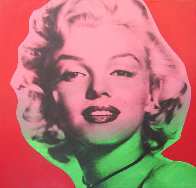 Marilyn Monroe State VII Red Background 1995 Limited Edition Print by Steve Kaufman - 0