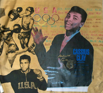 Muhammad Ali Olympic State HS Clay and Ali Gold PP 1996 Limited Edition Print by Steve Kaufman