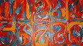 Homage To Jasper Johns, 0-9 2005 Original Painting - Steve Kaufman